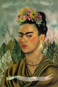 Self Portrait Dedicated to Dr. Eloesser, 1940 by Frida Kahlo