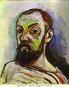Self Portrait in Striped T-Shirt, 1906 by Henri Matisse
