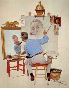 Triple Self-Portrait, by Norman Rockwell